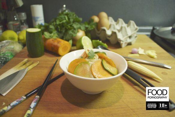 tagliolini di riso con verdure