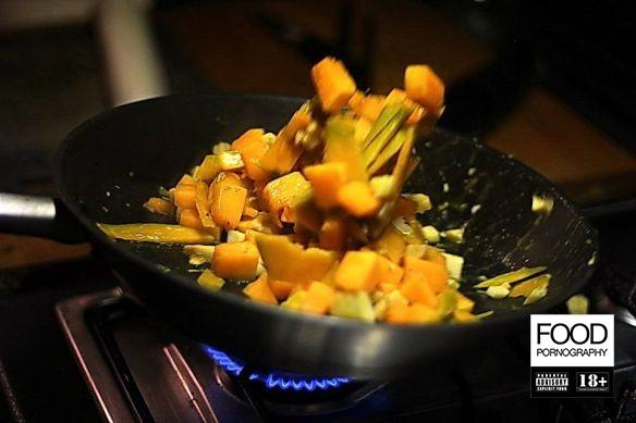 Torta di zucca con cialde di parmigiano rewind