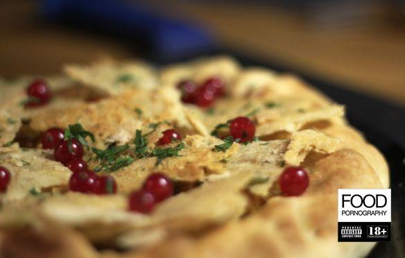 torta di zucca con cialde di parmigiano